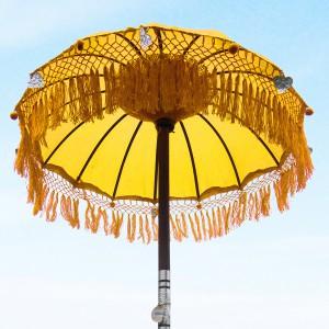 Zeremonienschirm Bali gelb QK